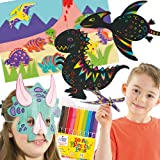 Dinosaur Craft Super Value Pack! Save 16% when bought in pack! Make your projects a roaring success! Pack includes 10 scratch art magnets, 6 colour-in dinosaur gliders, 6 colour-in dinosaur masks, 10 felt tip pens and 120 dinosaur foam stickers!