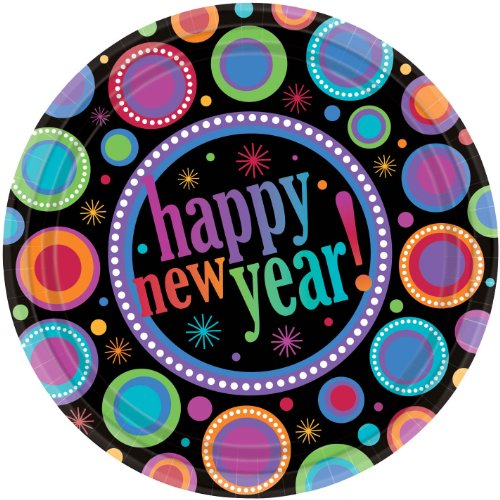 New Years Colors 10 And A Half Inch Plates - 1