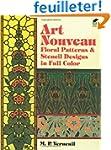 Art Nouveau Floral Patterns and Stenc...