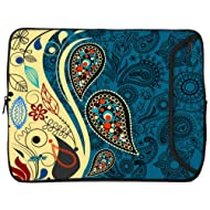Designer Sleeves Paisley Fashion Sleeve for 10-Inch iPad/Tablet Blue (10DS-PF)