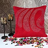 Cushion Casa Cushion Covers (Red) - B00NMC94SC