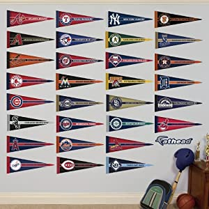 MLB All Teams Pennant Collection Wall Graphics by Fathead