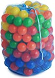 Gideon™ 100 Heavy Duty Colorful Plastic Soft Air-Filled Pit Balls for Ball Pits, Bounce Houses, Play Tents, Kiddie Pools, Pack 'n Play, Play Tents, Playhouses, etc. / Crush Proof, Commercial Grade, Phthalate Free & PVC Free