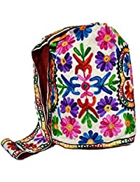 Raun Harman Stylish Embroidered Colorful Cotton Shopping / Grocery Sling Bag