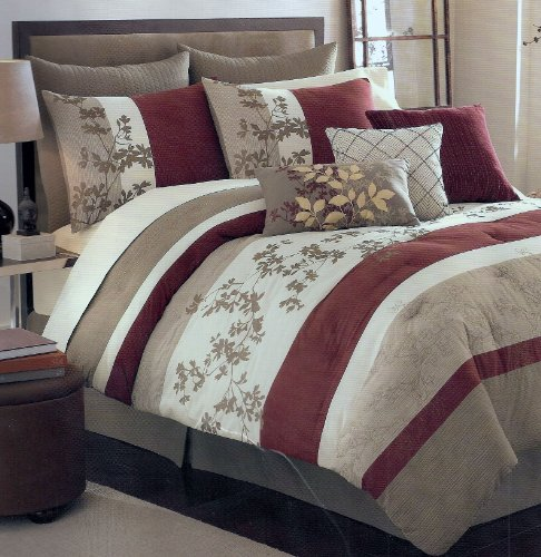 Get cheap sagamore khaki oversize queen 8 piece comforter for Super cheap bedroom sets