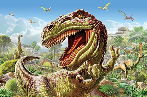 White Mountain Puzzles T-Rex and Dinosaurs - 60 Piece Jigsaw Puzzle