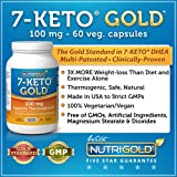 Nutrigold 7-Keto Gold (Clinically-proven 7-Keto), 100 mg, 60 veg. capsules