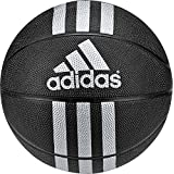 Adidas 3 Stripes Mini Basketball (Black/Metallic Silver, 3), Size 3/Black/Metallic Silver