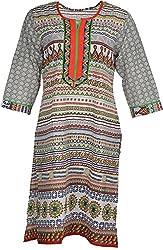 Artisan Women's Cotton Straight Kurta (CZF10029_XL, XL)