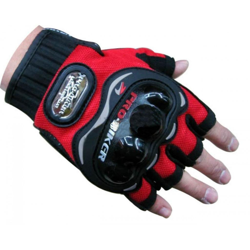 Motorcycle leather gloves india - Probiker Half Cut Gloves For Motorcycle Scooter Red M Amazon In Car Motorbike