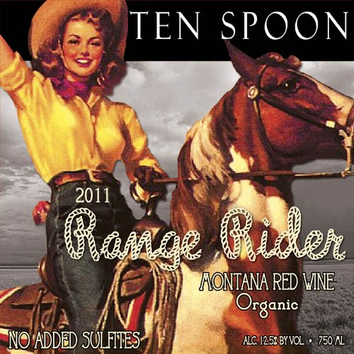 2012 Ten Spoon Range Rider Red Montana Wine 750 Ml - Usda Organic - No Added Sulfites