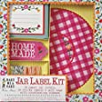 Meri Meri Floral and Gingham Jar Label Kit, 24-Pack
