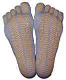Five Toe Socks Non-Slip Non Skid Sole, Yoga, Barre, or Pilates, Multiple-Colors