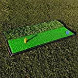 FORB Launch Pad Golf Practice Mat (2-in-1 Fairway/Rough) (24in x 12in) - Mini Golf Mat Combining Realistic Fairway & Semi-Rough Lies [Net World Sports] (2 in 1)