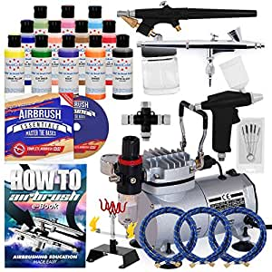 Airbrush For Cake Decorating Reviews : Amazon.com: PointZero Pro Airbrush Cake Decorating Set ...