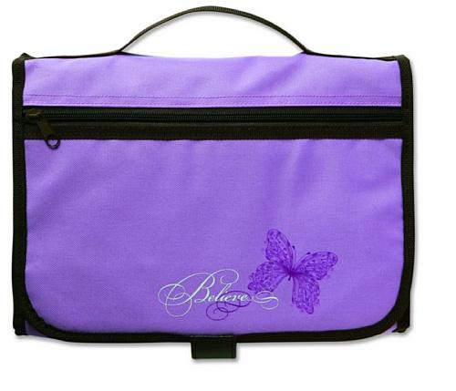 Designer Tri-Fold Cover Lavender/Chocolate Large PDF