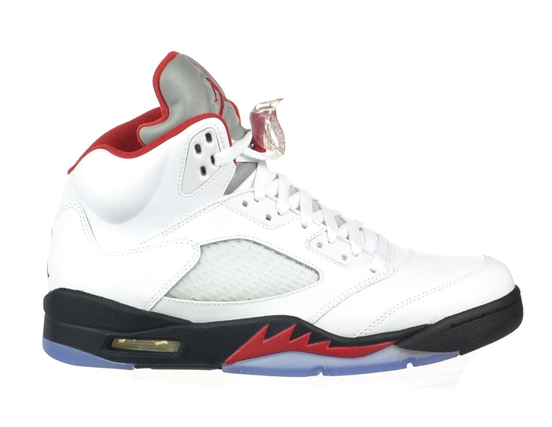 Air Jordan 5 Retro Men\\u0026#39;s Basketball Shoes White/Fire
