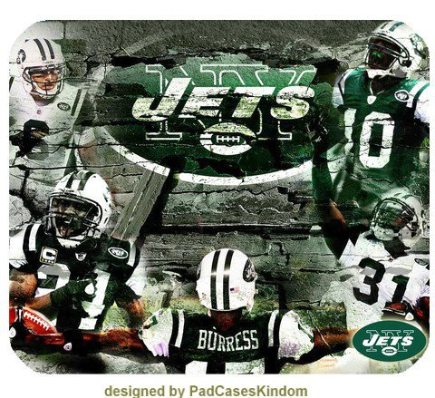 Full color NFL New York Jets style mouse mat by padcaseskingdom at Amazon.com