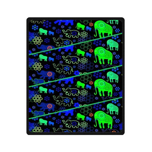 "Personalized Cute Dogs Jigsaw Blanket 50""X 60""(Medium) front-993739"