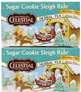 Celestial Seasonings Sugar Cookie Sleigh Ride Tea Bags, 20 ct, 2 pk from Hain-Celestial Seasonings