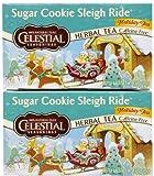 Celestial Seasonings Sugar Cookie Sleigh Ride Tea Bags, 20 ct, 2 pk