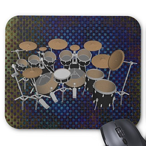 black-10-piece-drum-set-black-mousepad-drums-kit-mouse-pad
