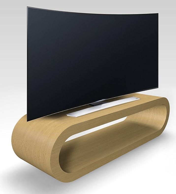 Stile Retrò Disegno Cerchio Basamento Grande Tv Rovere Naturale / Armadietto 110 cm