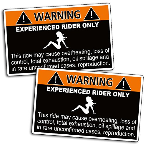 Funny Caution Joke Warning Experienced Rider Decal Sticker (Funny Warning Decal compare prices)