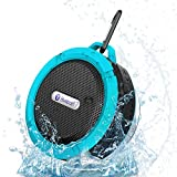 VicTsing® Wireless Bluetooth 3.0 Waterproof Outdoor / Shower Speaker, with 5W Speaker/Suction Cup/Mic/Hands-Free Speakerphone - Light Blue