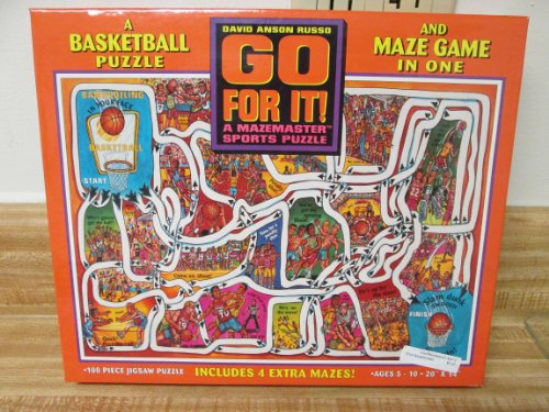 1996 Ceaco Go For It! Maze Game Basketball 100 Piece Puzzle - 1