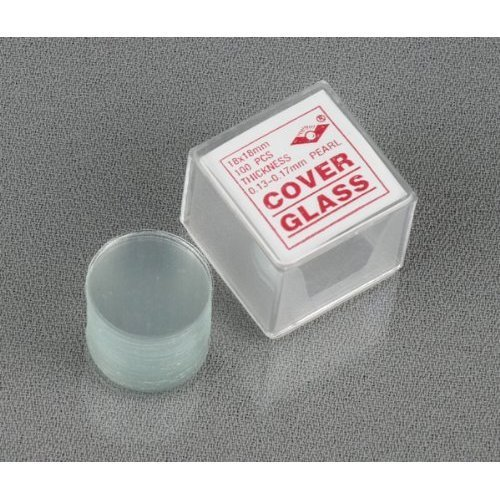 Amscope Cs-R18-100 100Pc Pre-Cleaned 18Mm Diameter Round Microscope Glass Cover Slides Coverslips