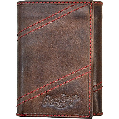 rawlings-two-strikes-trifold-wallet-glove-brown