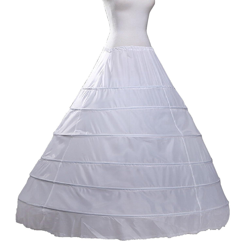 Fashion Plaza Unterrock Krinoline 6 Reifen bodenlangen Braut Petticoat A0006 günstig