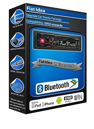 Fiat Idea autoradio Alpine UTE 72BT mains-libres Bluetooth pour autoradio stéréo
