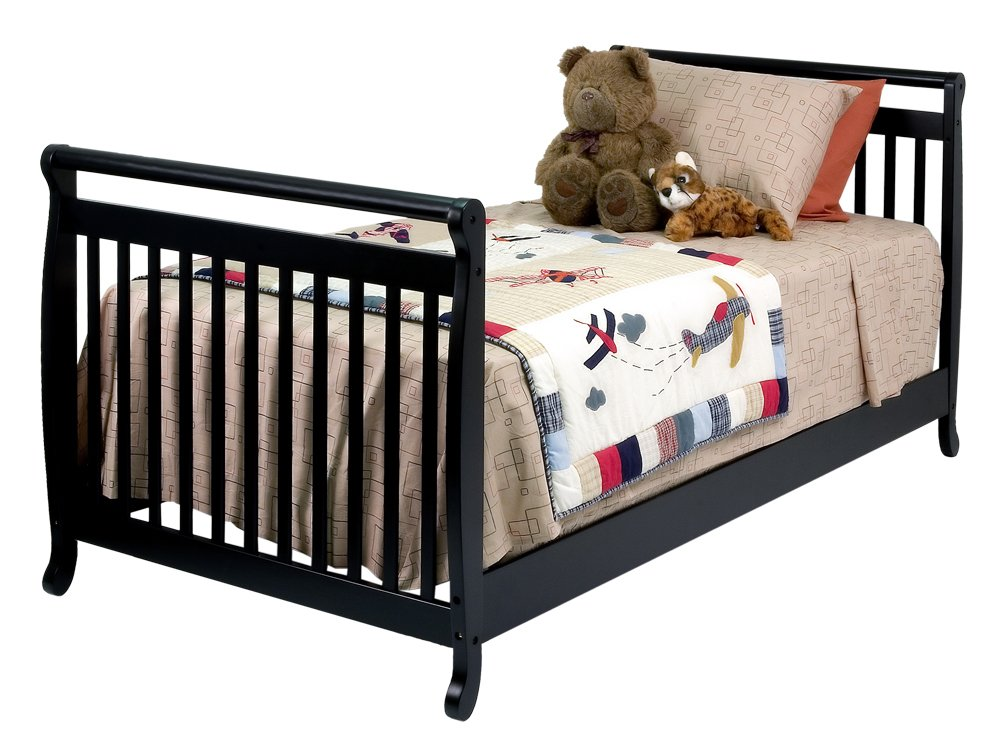 Amazon.com : DaVinci Emily Mini Crib - Ebony : Convertible Cribs ...