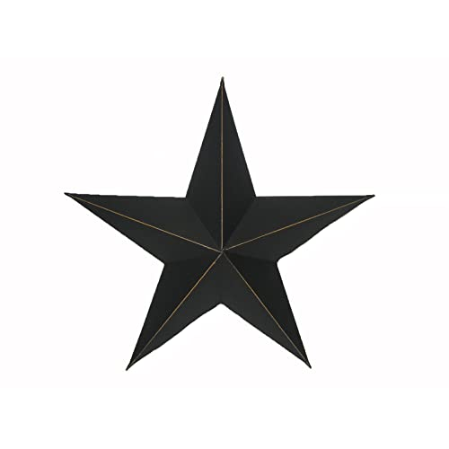 Craft Outlet Antique Star Wall Decor 11-Inch Black Set of 2