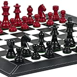 Contemporary Staunton Chessmen & Financial District Chess Board