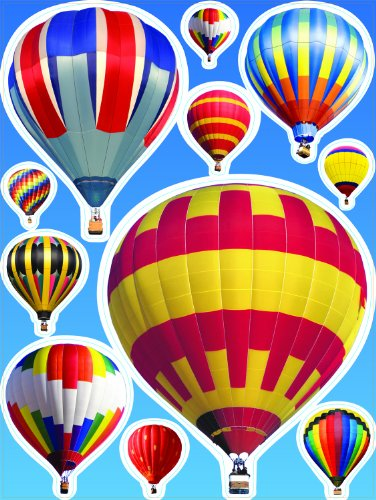 Eureka Hot Air Balloons Clings