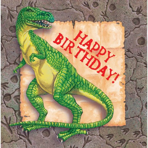 Dinosaur - 13 Inch Luncheon Napkin - 16/pkg. Happy Birthday