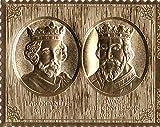 Sellos de oro - Staffa 1977 Reina del Jubileo de Plata Rey Hardicanuto y el rey Eduardo doble de cupones de lámina de oro - alta calidad - Nunca montados - Nunca bisagras