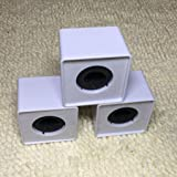 Iusun ABS Mic Microphone Interview Square Cube Logo Flag Station 1.5