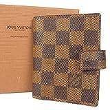 (ルイ ヴィトン) LOUIS VUITTON R20705 ダミエ アジェンダ ミニ 手帳カバー 箱付き エベヌ ブラウン 17773eSaM 中古