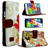 myLife Colorful Abstract Mural Print – Contemporary Design – Koskin Faux Leather (Card, Cash and ID Holder + Magnetic Detachable Closing) Slim Wallet for NEW Galaxy S5 (5G) Smartphone by Samsung (External Rugged Synthetic Leather With Magnetic Clip + Internal Secure Snap In Hard Rubberized Bumper Holder) Reviews
