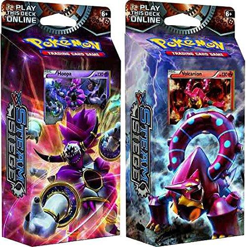 BOTH-Pokemon-XY-Steam-Siege-60-card-Theme-Decks-Gears-Of-Fire-Ring-of-Lightning
