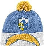San Diego Chargers Mitchell & Ness NFL Throwback Jersey Stripe Cuffed Knit Hat w/ Pom