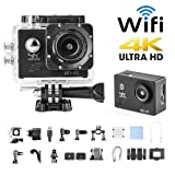 H9 Sport Camera Action Video Camera 4K WiFi Waterproof Sports Camera Full HD 4k 30fps 1080P 60fps 720p120fps Ultra HD Camera 16MP Photo and 170 Wide A