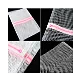 SODIAL(TM) 3 x Zipped Laundry Washing Mesh Bags Net Socks Underwear Wash 1 Large 2 Medium