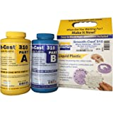 Smooth-On Smooth Cast 310 SLOW Casting Resin - 2 Pint Kit - Cures Bright White! (Color: White, Tamaño: 2 Pint Kit)