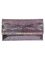 Womaniya PU Silver Handbag For Women(Size-28 Cm X 15 Cm X 3 Cm)