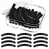 24 Pcs Eyelash Curler Refills, Teenitor Professional Soft Silicone Eyelash Curler Refill pads Univesal Fit for Most Brands Of Eyelash Curlers/Easy To Install/Super Elastic/for Bigger And Wider Eye (Color: black)